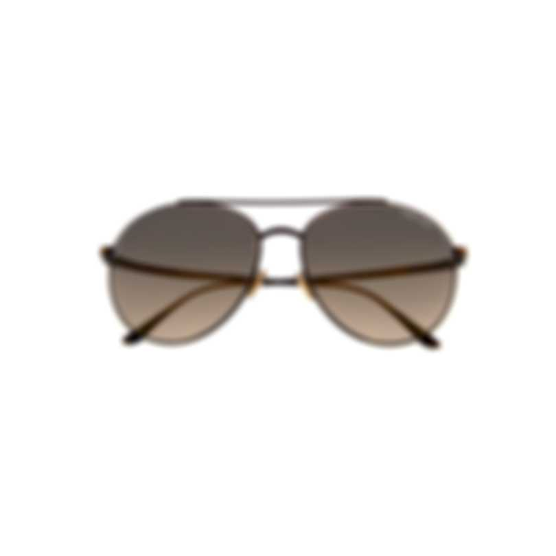 Tom Ford Shiny Black & Smoke Aviator Style Sunglasses FT0757-5901C