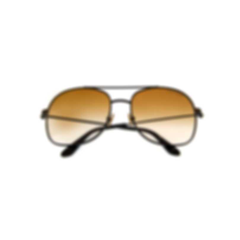 Tom Ford Shiny Black & Brown Aviator Style Sunglasses FT0758-5801F