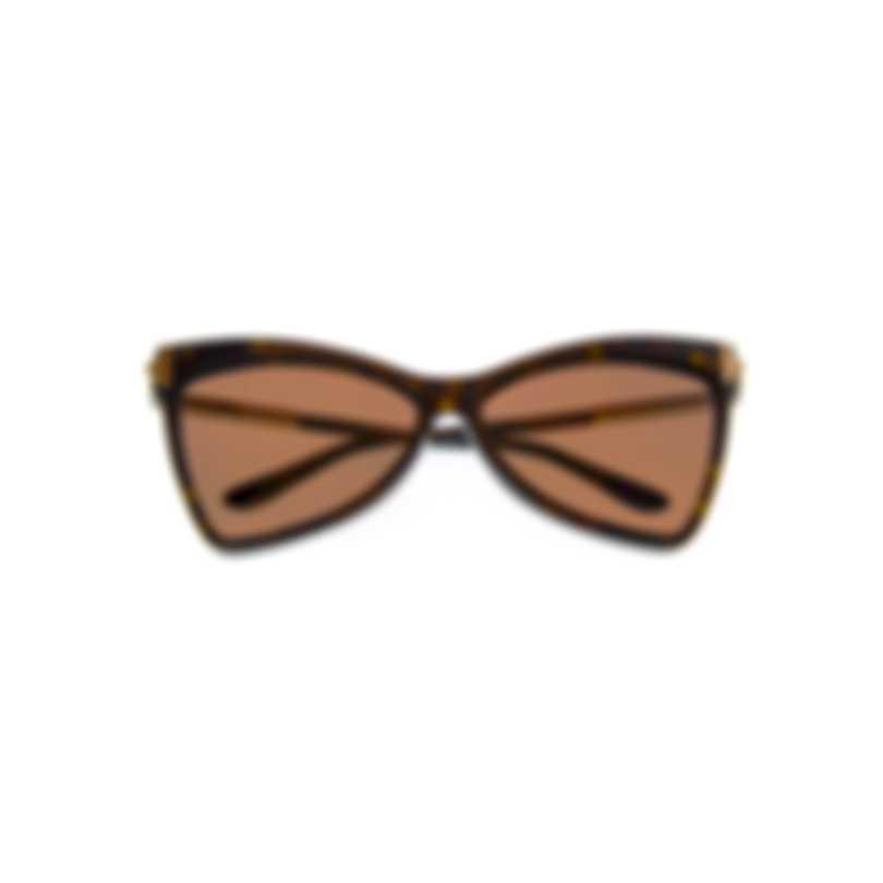 Tom Ford Dark Havana & Brown Cateye Sunglasses FT0767-6152E
