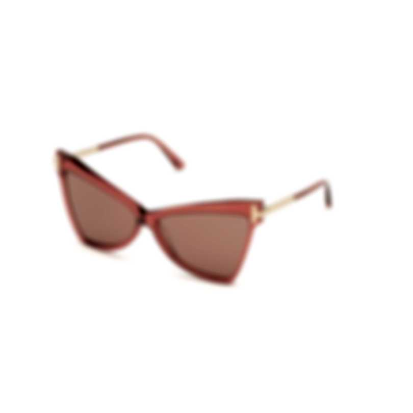 Tom Ford Shiny Pink & Violet Butterfly Sunglasses FT0767-6172Y