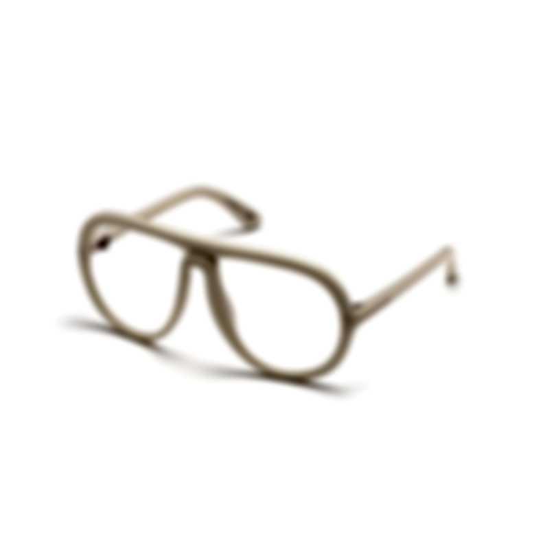 Tom Ford Shiny Ivory & Clear Pilot Sunglasses FT0768-60025