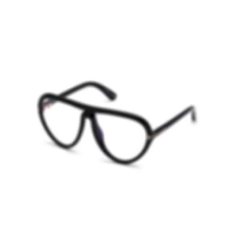 Tom Ford Shiny Black & Clear Pilot Sunglasses FT0769-59001