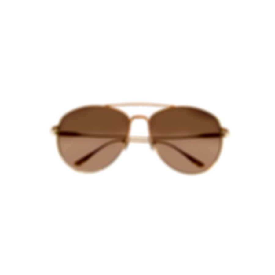Tom Ford Shiny Rose Gold & Brown Aviator Style Sunglasses FT0784-5928F