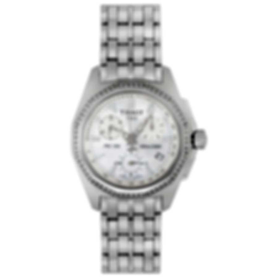 Tissot PRC 100 Diamond Mother Of Pearl Chronograph Quartz Ladies Watch T22148621