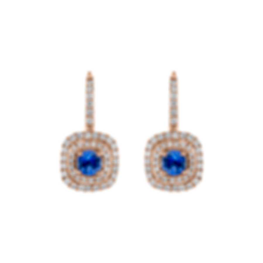 Tresorra 18k Rose Gold Diamond 0.60ct And Sapphire Earrings 141-RG-BS