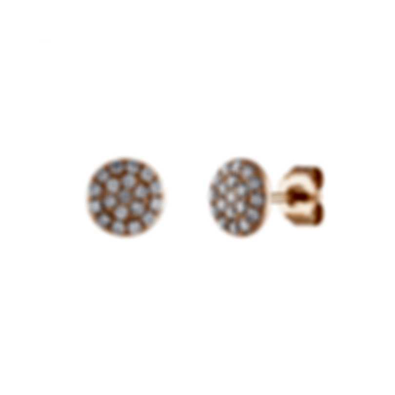 Tresorra 18k Rose Gold Diamond 0.45ct Earrings 146-RG-DIA