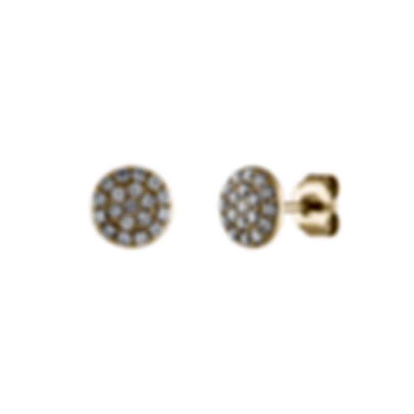 Tresorra 18k Yellow Gold Diamond 0.20ct Earrings 196-YG-DIA