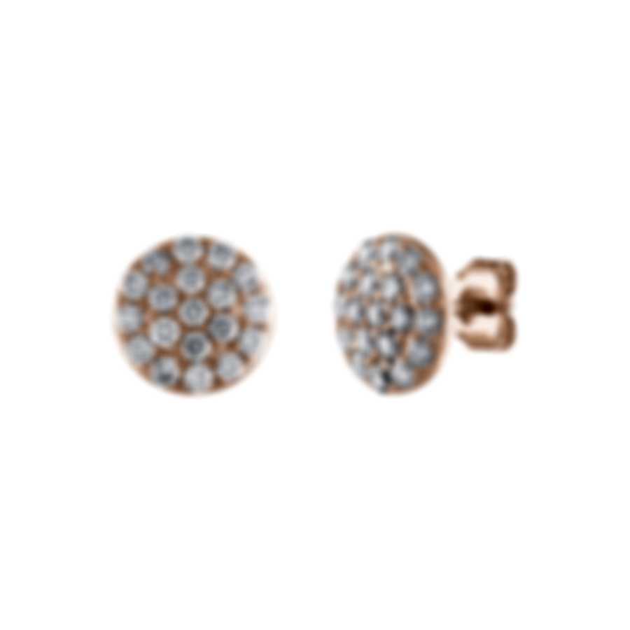 Tresorra 18k Rose Gold Diamond 1.00ct Earrings 198-RG-DIA