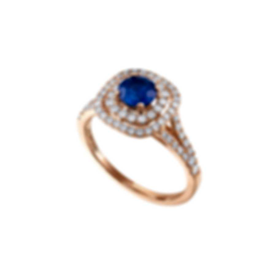 Tresorra 18k Rose Gold Diamond 0.50ct And Sapphire Ring Sz 6.75 201-RG-BS-R