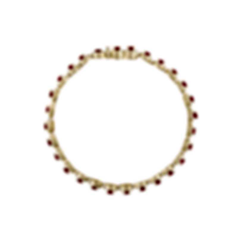 Tresorra 18k Yellow Gold Diamond 2.25ct And Ruby Bracelet 215-YG-RBY-B