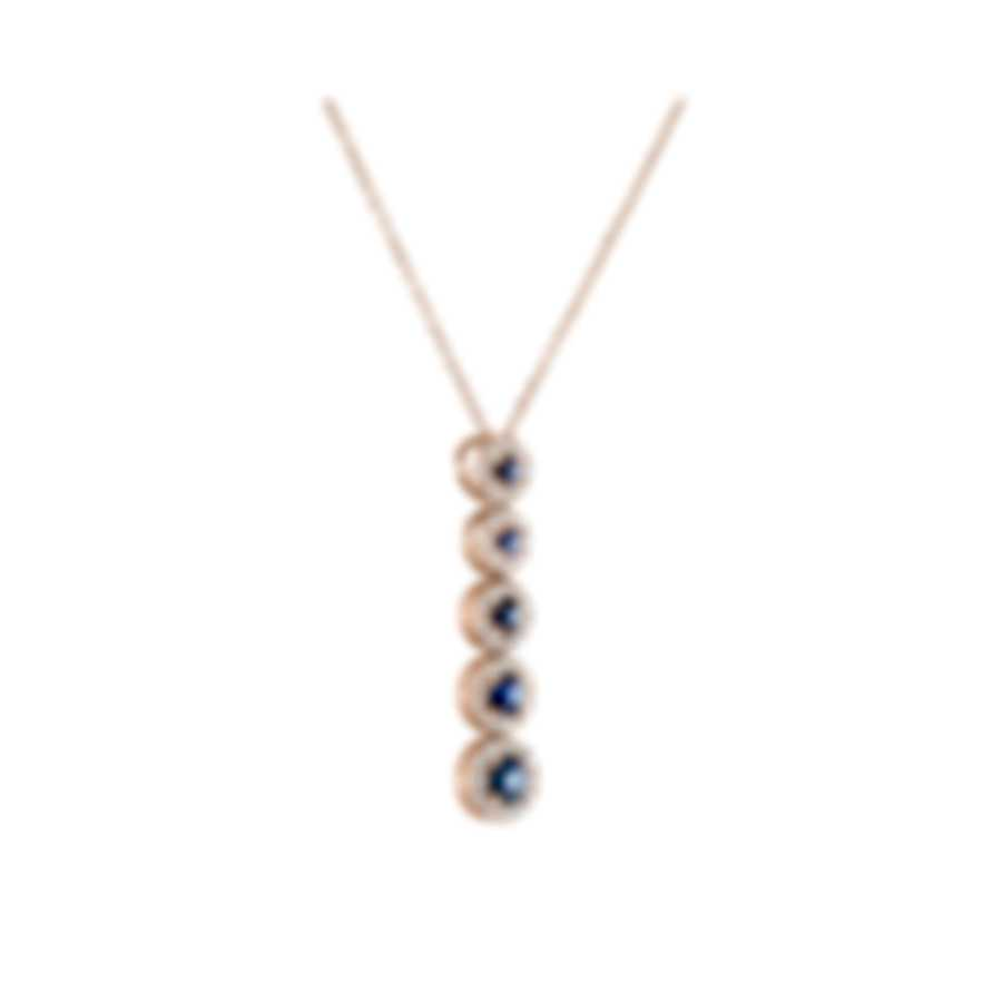Tresorra 18k Rose Gold Diamond 0.30ct And Sapphire Necklace 220-RG-BS