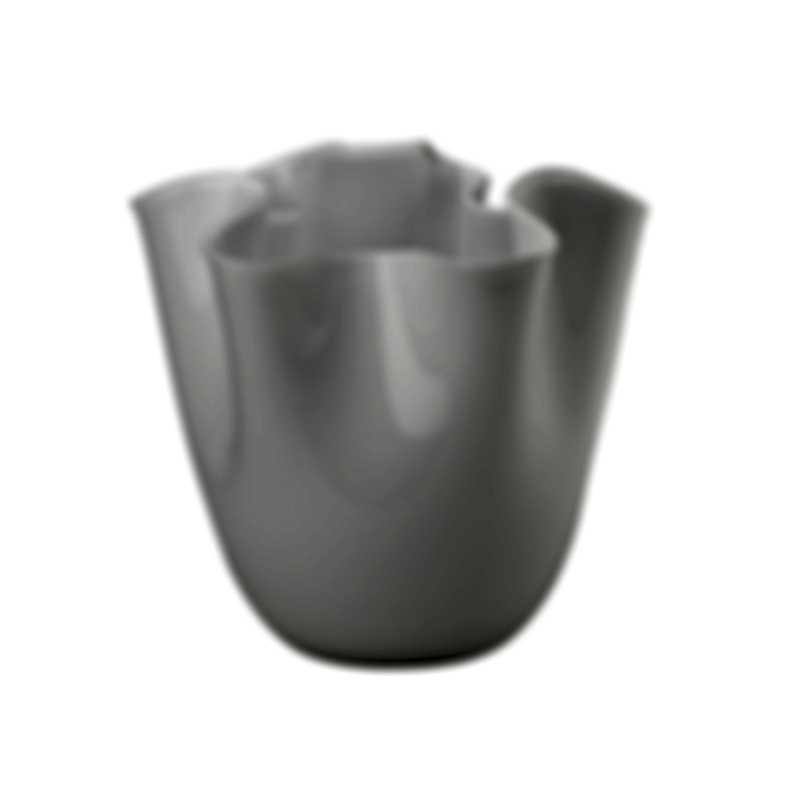 Venini Fazzoletto Opalino Hand Blown Glass Vase 2FO370000000O0N