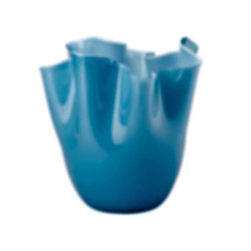 Venini Fazzoletto Opalino Hand Blown Glass Vase 2FO370000000O0PN