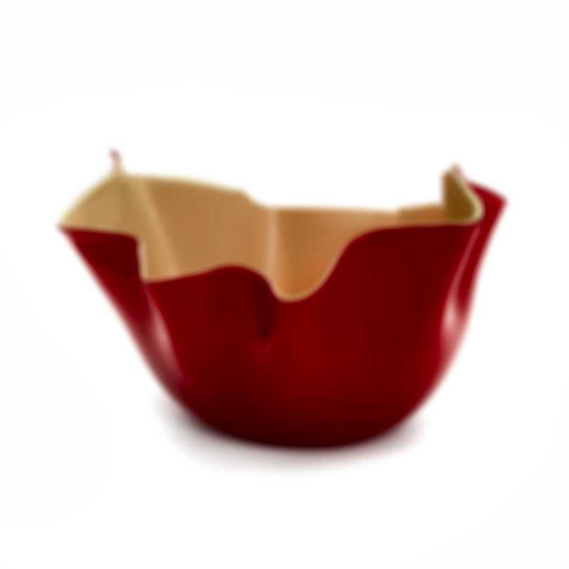 Venini Fazzoletto Opalino Hand Blown Glass Vase 2FO370010000O0A13