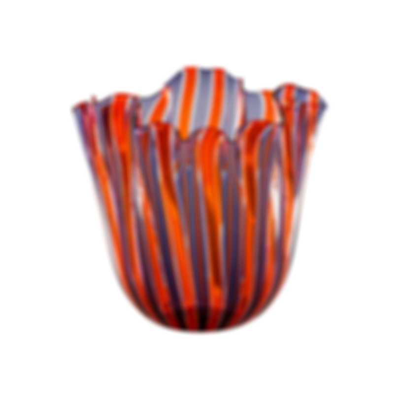 Venini Fazzoletto A Canne Hand Blown Glass Vase 2FO370101000C0A9E