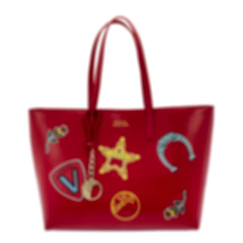 Versace Collection Red Saffiano Logo Tote - LBF0492S-LSSPS-LMROC