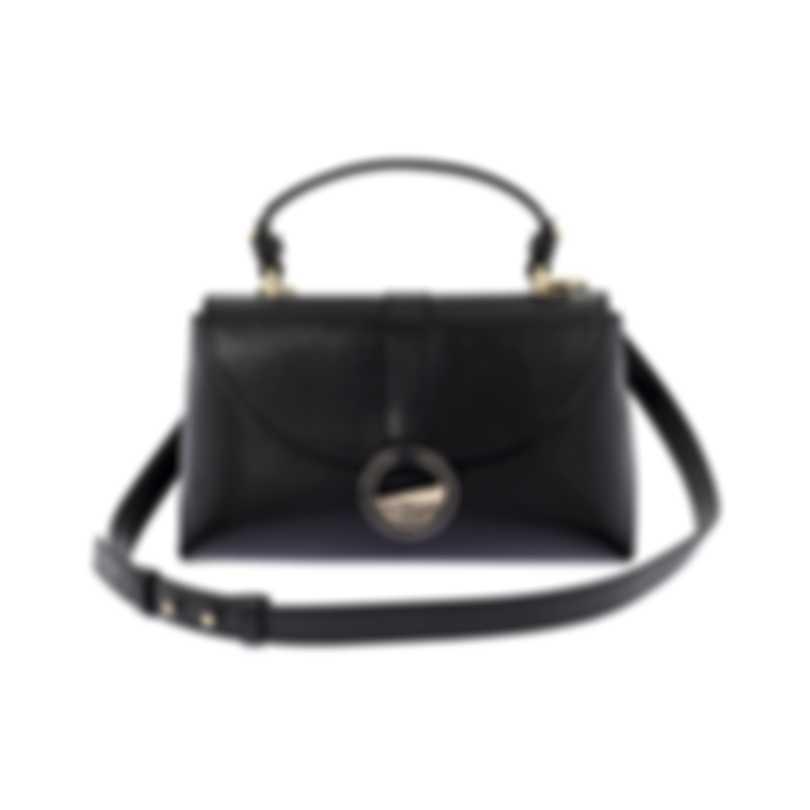 Versace Collection Black Saffiano Top Handle Satchel LBF0998S-LVSS-L41OC