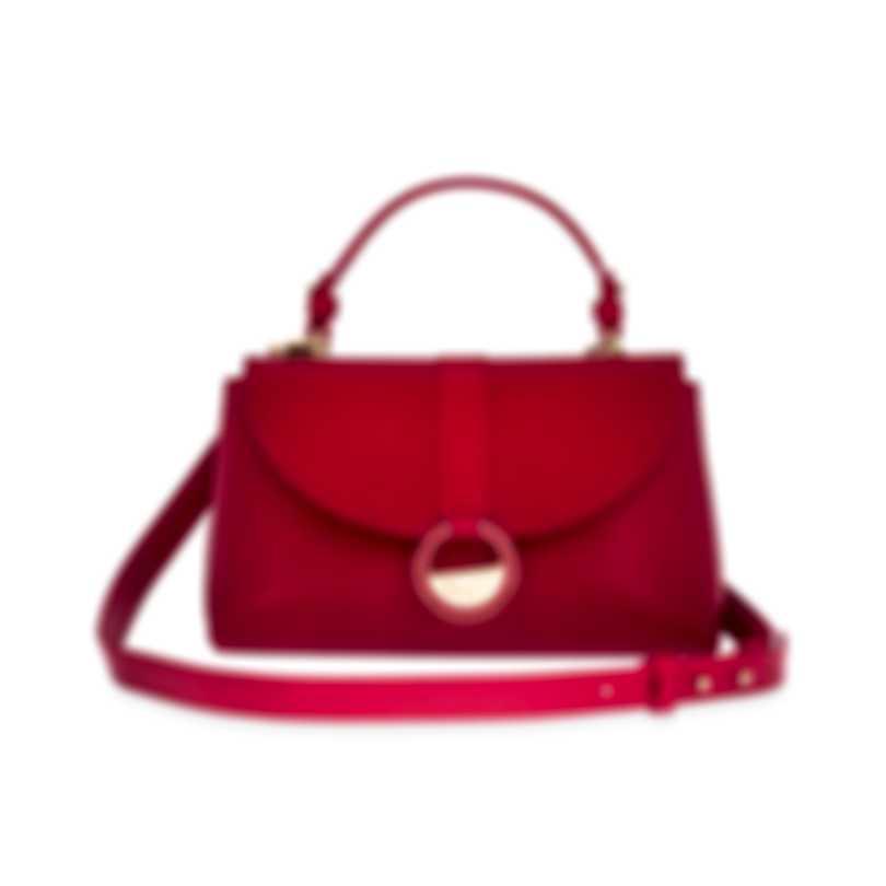 Versace Collection Red Top Handle Satchel LBF0998S-LVSS-L61OC