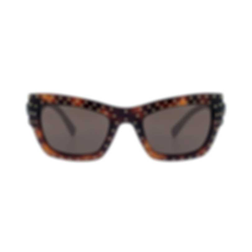 Versace Havana Brown Women's Acetate Sunglasses VE4358-521773