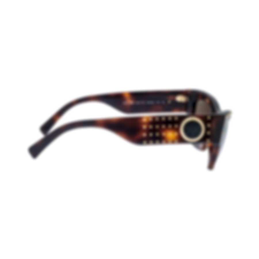 Versace Havana Brown Women's Acetate Sunglasses VE4358-521773