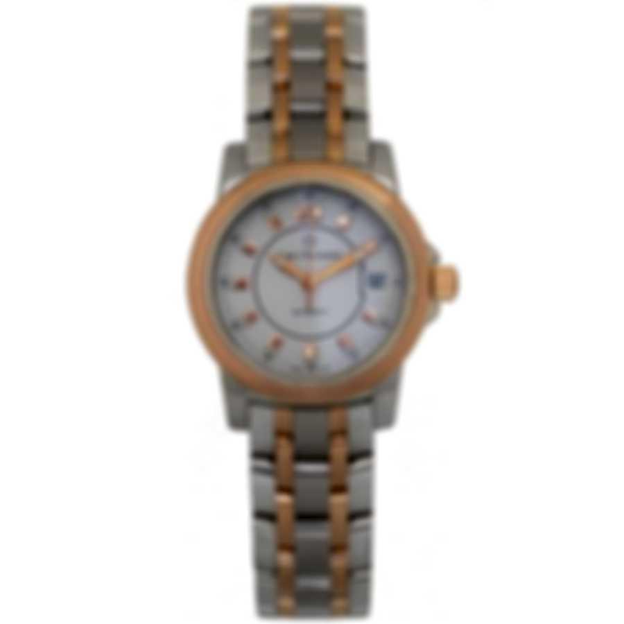Carl F. Bucherer Patravi Autodate 18k Rose Gold & Steel Ladies Watch 00.10621.07.23.21
