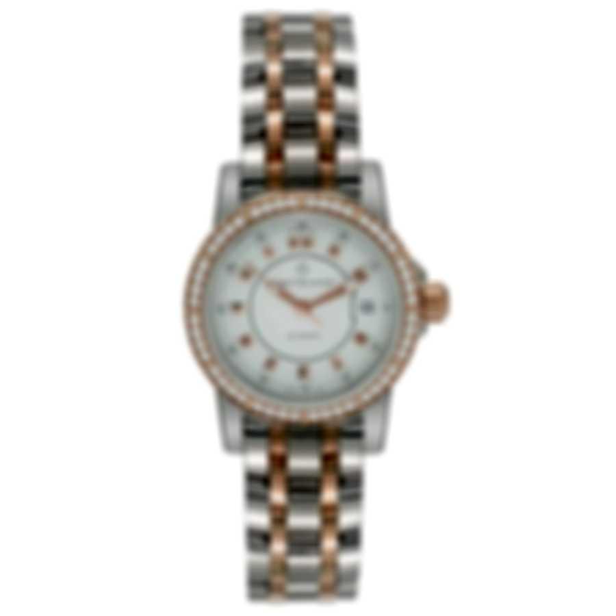 Carl F. Bucherer Patravi Autodate 18k Rose Gold/Steel Diamond Ladies Watch 00.10621.07.23.31