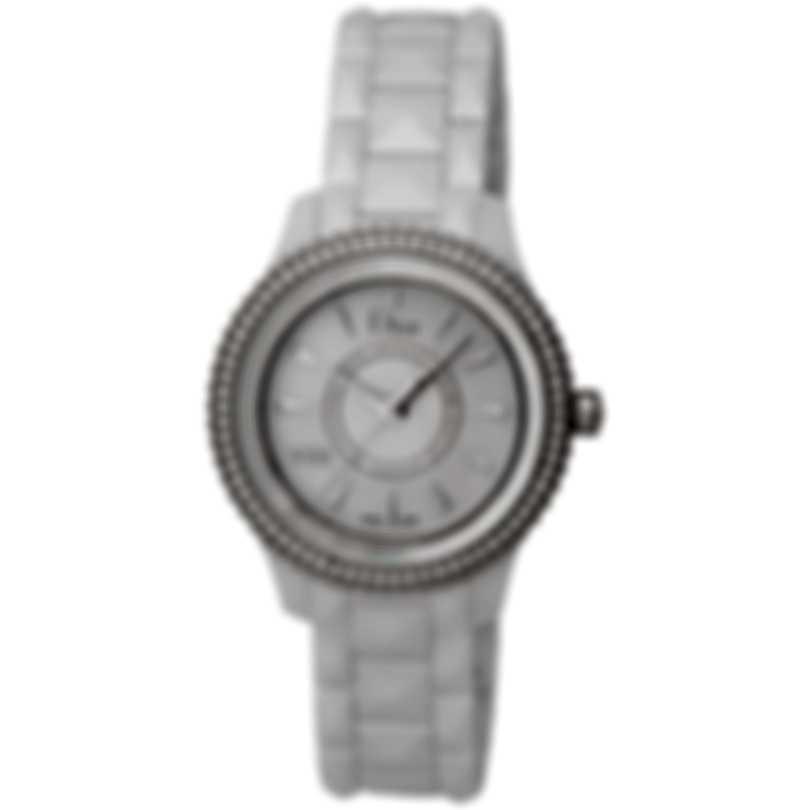 Dior Dior Viii White Ceramic And Steel Diamond Ladies Watch CD1231E4C001
