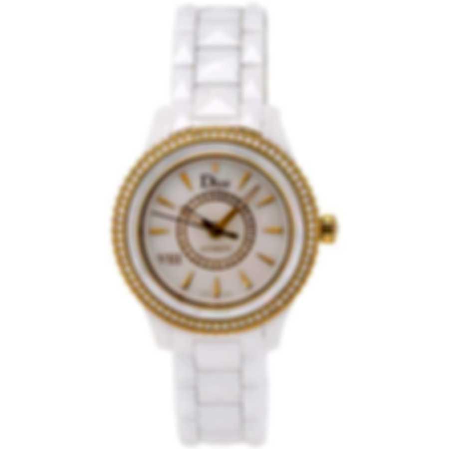 Dior Dior Viii Ceramic Automatic Diamond 33mm Ladies Watch CD1235H1C001