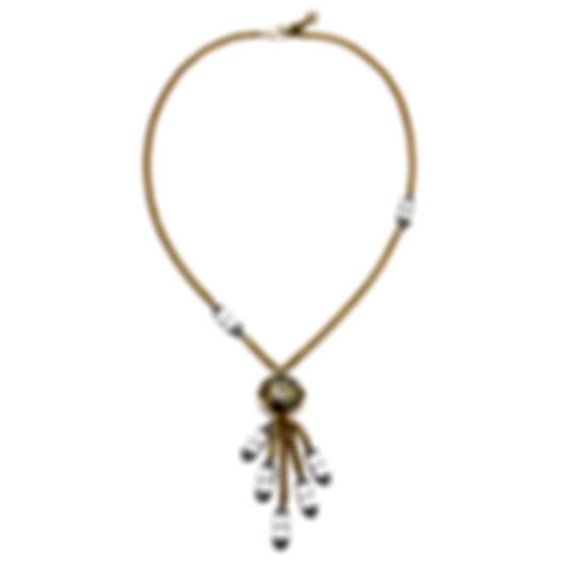 Lulu Frost Glitter Frenzy Tassel Crystal Necklace N267