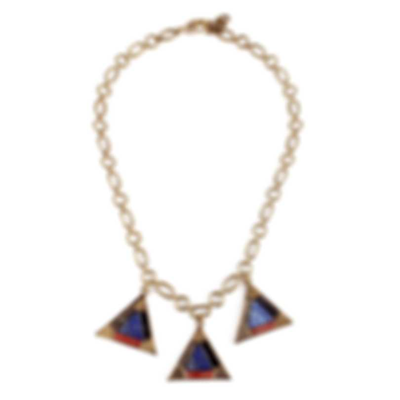 Lulu Frost Petra Triple Pyrite, Sodalite And Jasper Necklace LFSS18-59