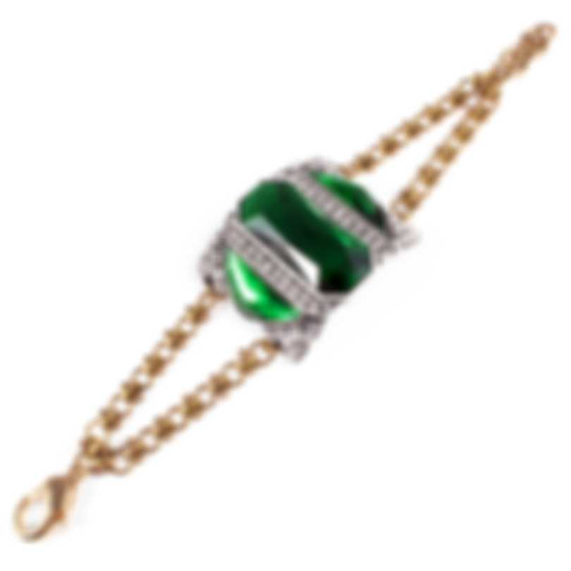 Lulu Frost Future Green Glass Bracelet LFSS18-73