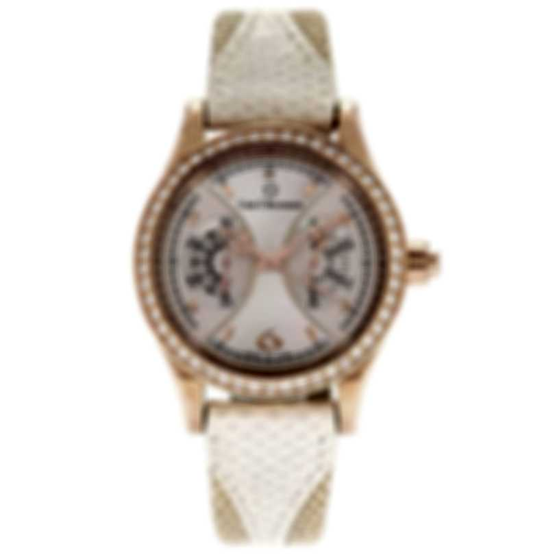 Carl F. Bucherer 18k Rose Gold Diamond Manero Monograph Ladies Watch 00.10904.03.76.11