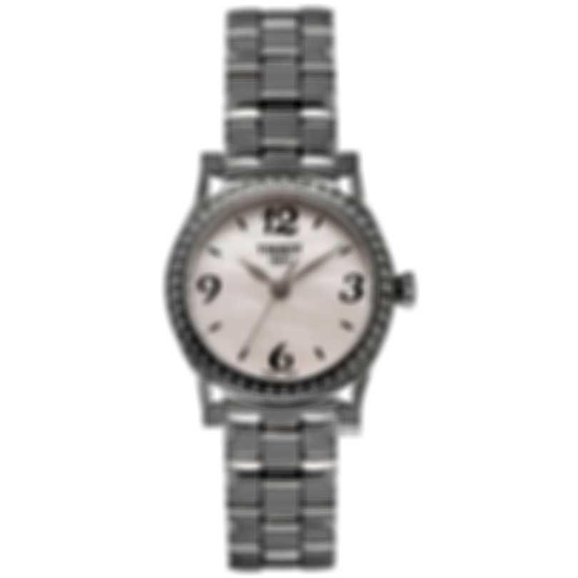Tissot Stylis T Diamond Mother Of Pearl Quartz Ladies Watch T028.210.11.117.00