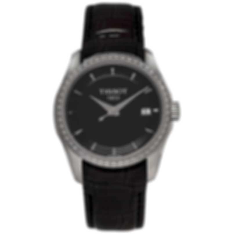 Tissot Couturier Diamond Black Dial Quartz Ladies Watch T035.210.66.051.00